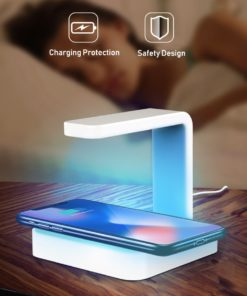 2-in-1 UV Cell Phone Sanitizer And Wireless QI Fast Charger For iPhone, Samsung, Android