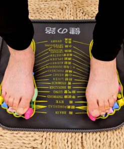 1Pc Acupuncture Cobblestone Foot Reflexology Massage Pad Walk Stone Square Foot Massager Cushion for Relax Body Pain Health Care 1