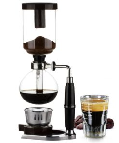 Siphon Coffee Maker Pot Stainless Steel Durable Heat-resistant Glass 1