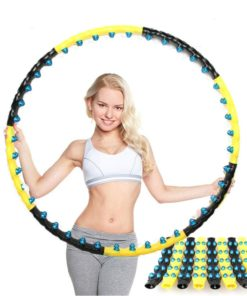 Detachable 7/8 Parts Double Row Magnetic Fitness Hoop 1