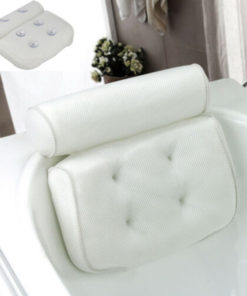 Bathtub Pillow, Large Spa Mesh Pillow, Bath Cushion Headrest for Shoulder Neck Support Backrest Tubs Jacuzzi 1