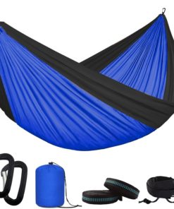 Two Person Camping Hammock with Outdoor Hammock Tree Straps Portable Parachute Nylon Hammock for Backpacking Travel 28