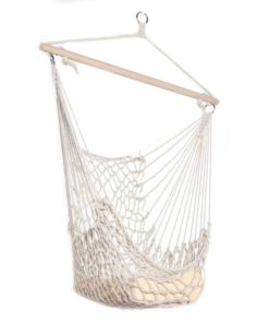 Hammocks White Hanging Net Chair|Cotton Swing Camping 1