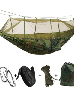 1-2 Person Portable Outdoor Camping Hammock with Mosquito Net High Strength Parachute Fabric Hanging Bed Hunting Sleeping Swing 8